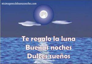Imagen de buenas noches con la luna
