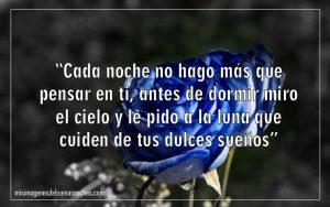rosas azules de buenas noches amor