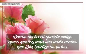 imágenes de buenas noches con rosas y corazones