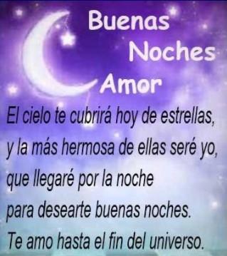 dedicatorias de buenas noches amor