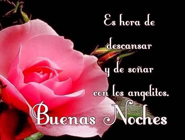 Imágenes de buenas noches con flores