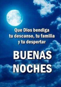 buenas noches Dios te bendiga y que descanses