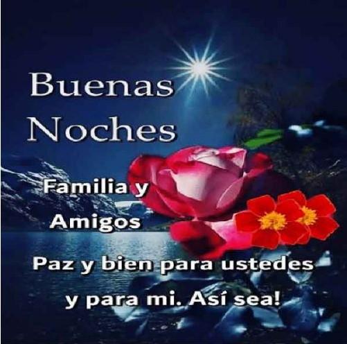 Feliz noche familia y amigos