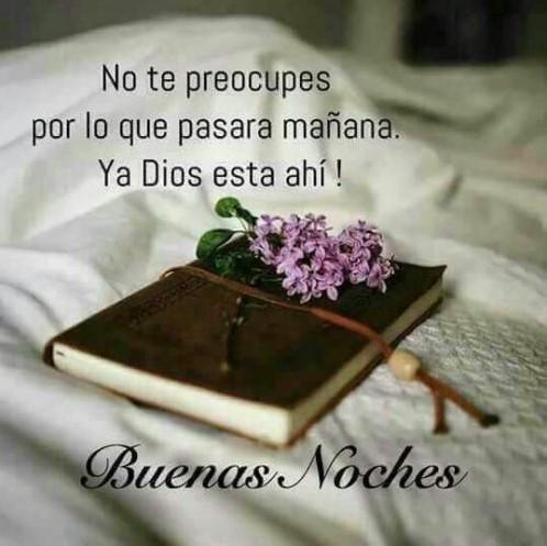 Feliz noche Dios los bendiga