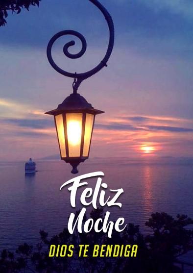 Feliz noche que Dios te bendiga