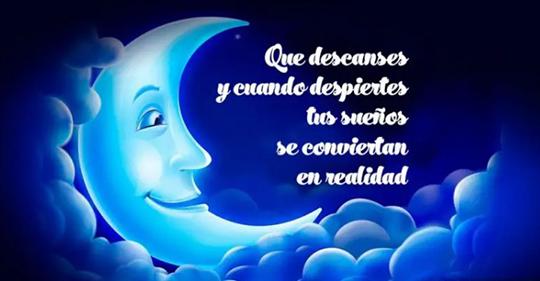 Feliz noche que descanses