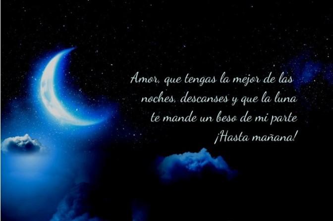 Hasta mañana mi amor buenas noches feliz descanso