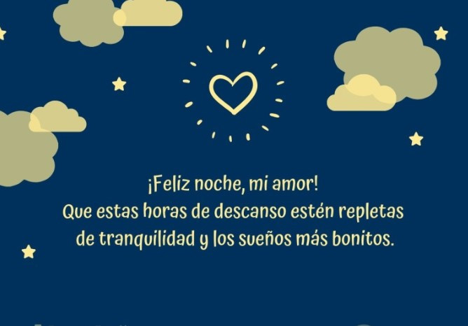Hasta mañana mi amor buenas noches que descanses