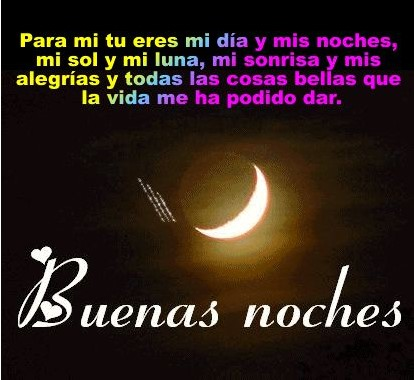 Buenas noches feliz descanso mi amor