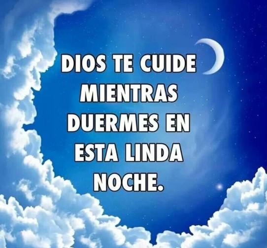 Dios te cuide mientras descansas