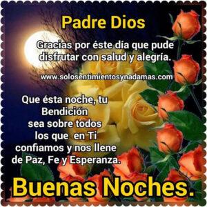 buenas noches padre Dios