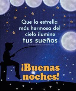 buenas noches cielo luna