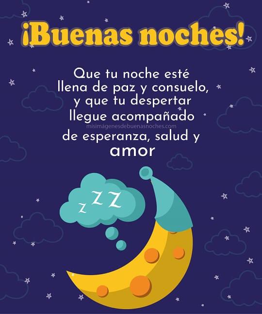 buenas noches paz y amor