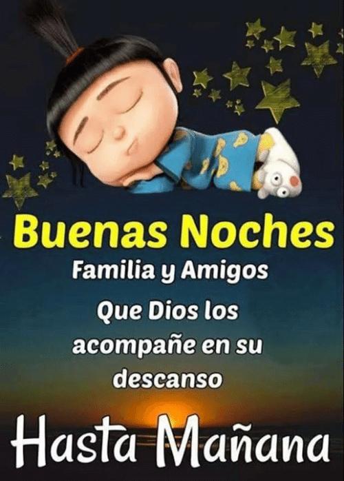 buenas noches para amigos y familia