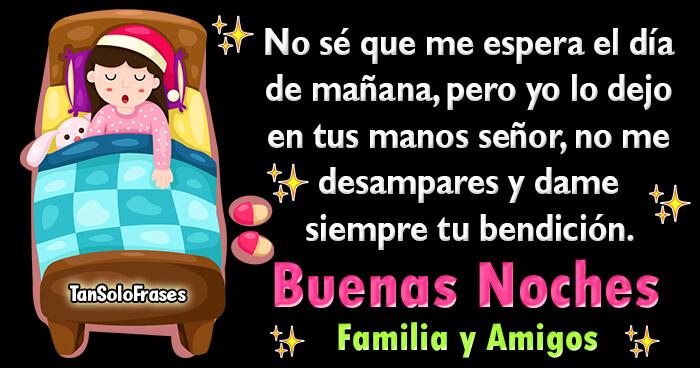 buenas noches mensaje para familia y amigos