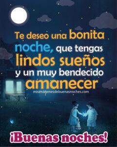 buenas noches bonita noche y lindos sueños